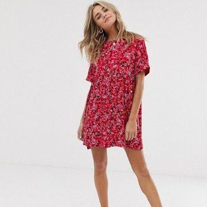 Wednesday's Girl mini smock dress in ditsy floral